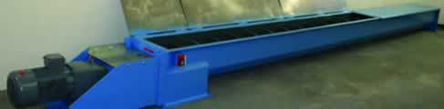 Type DZ trough screw conveyors for tough operation