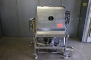AZO Sack discharge station with screw feeder - used