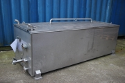 Hot melt container with cover - used