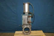 Knife gate valve DN125 pneumatically operated - used